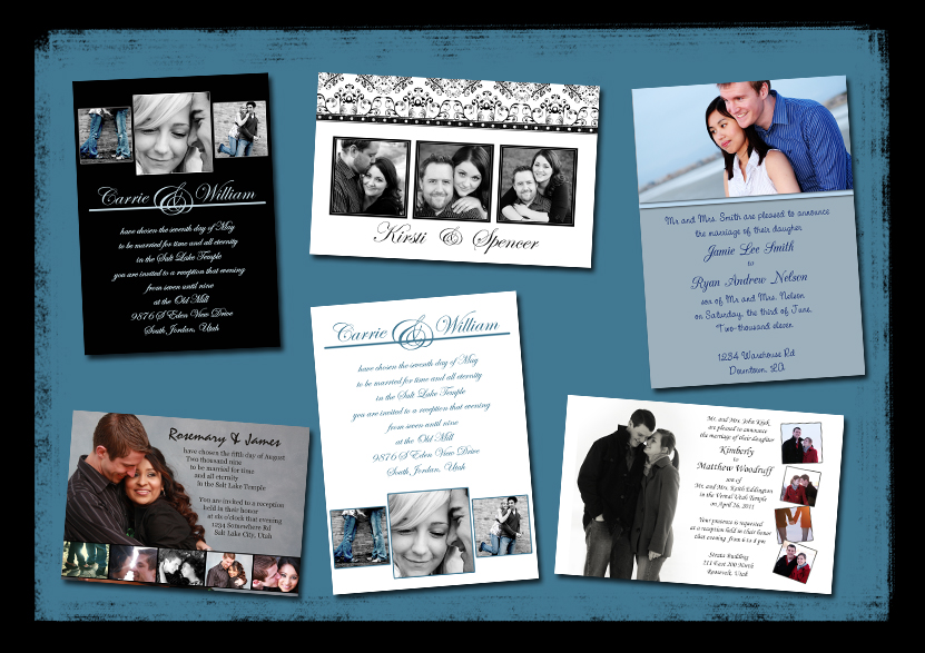 Collage Wedding Invitation Templates Free