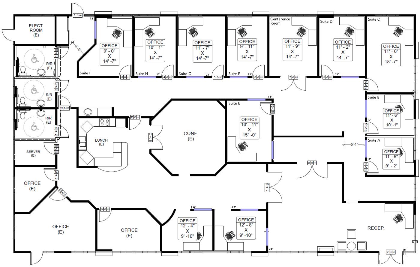 Commercial Office Building Floor Plans