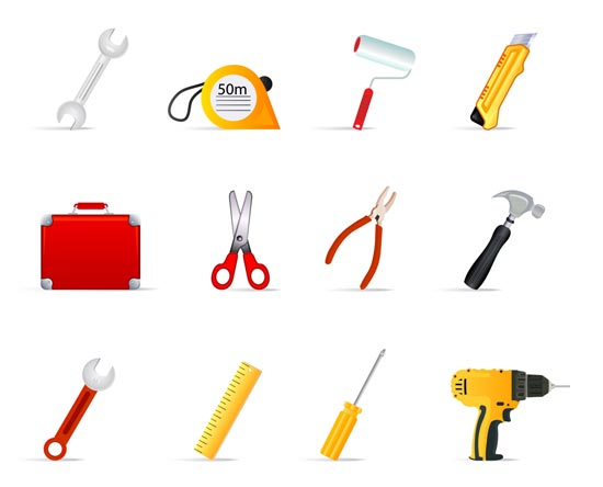 14 Contractor Tools Vector Images