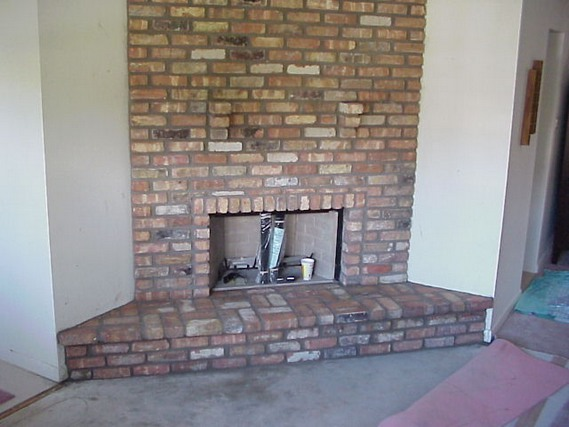 Corner Brick Fireplace Designs