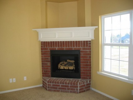 Corner Brick Fireplace Ideas
