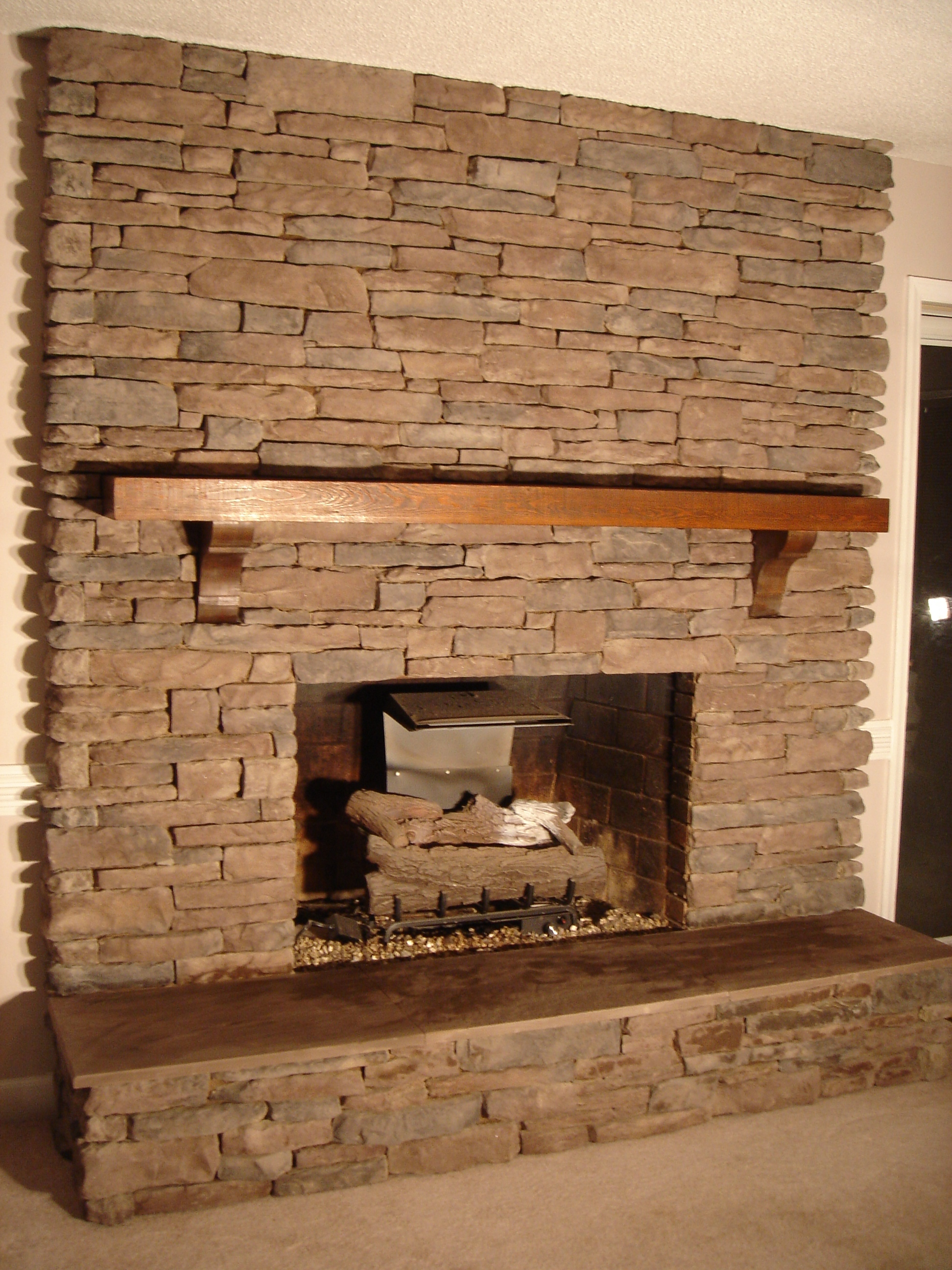 Cultured Stone Fireplace Design Ideas