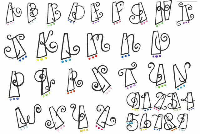 Cute Bubble Letter Fonts Alphabet
