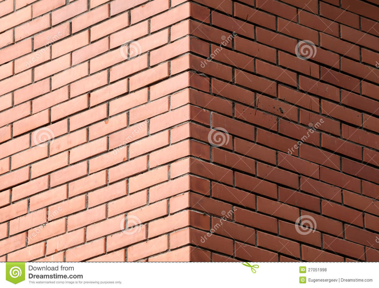 Decorative Brick Wall Corner