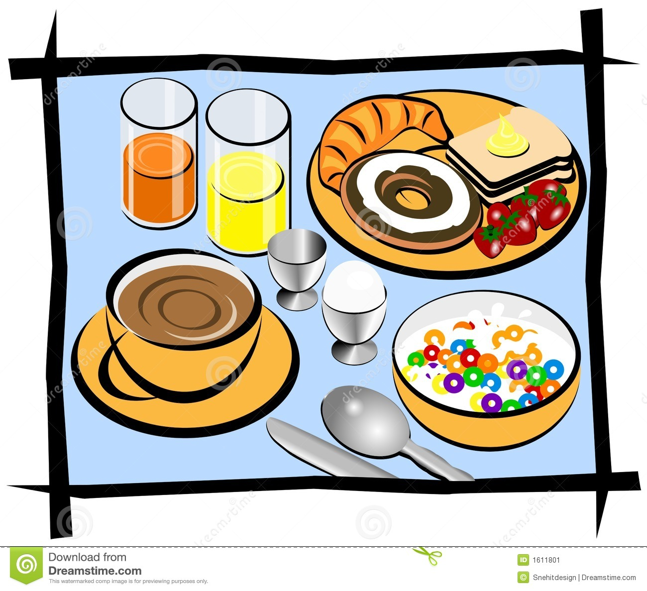 Eating Breakfast Clip Art
