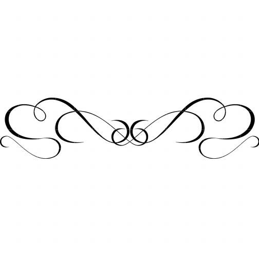 Elegant Swirl Designs Clip Art Border