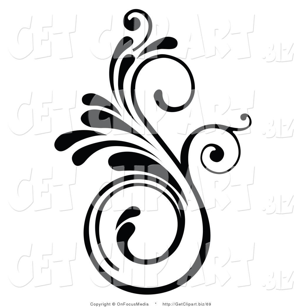Clip Art Design : Elegant design clip art images swirl border