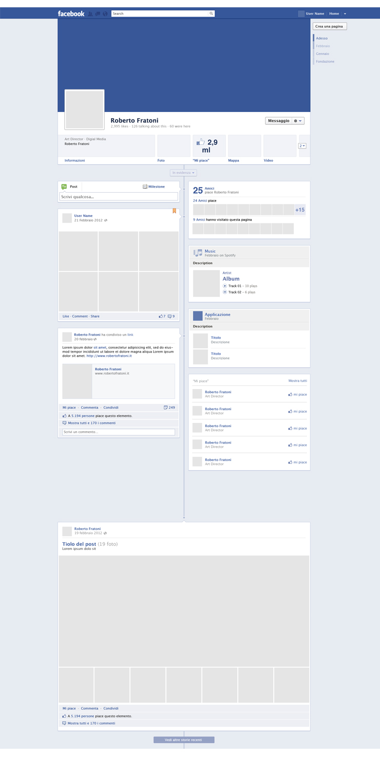 14 facebook timeline psd images facebook timeline page for Facebook page design template free