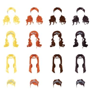 12 Vector Art Wedding Hair Images