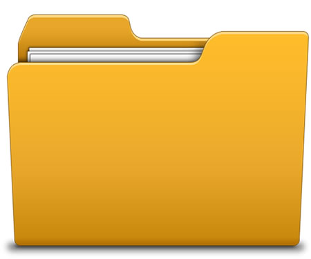 6 Yellow Folder Icon Images
