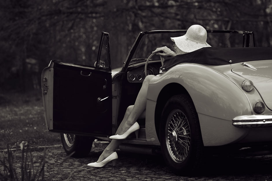 Fine Art Photography Black and White Car