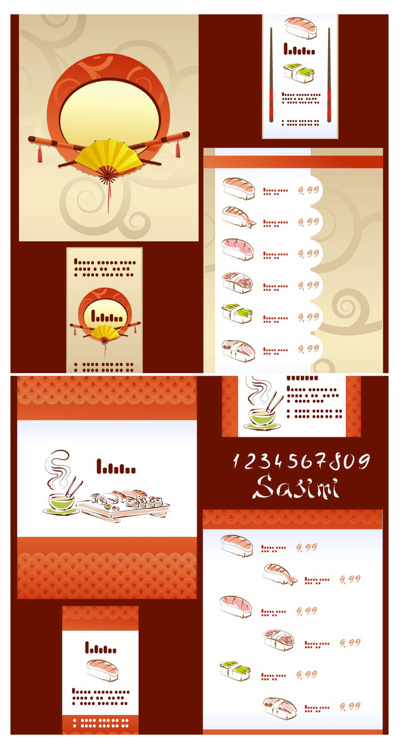 5 Menu Templates Vector Brochure Images