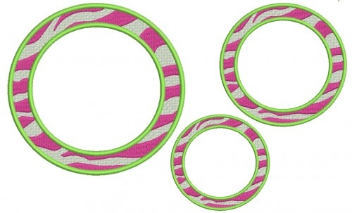 Free Circle Embroidery Font Frame Designs