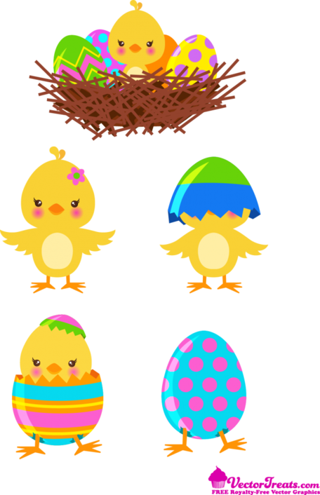 16 Vectors Free Easter Chicks Images
