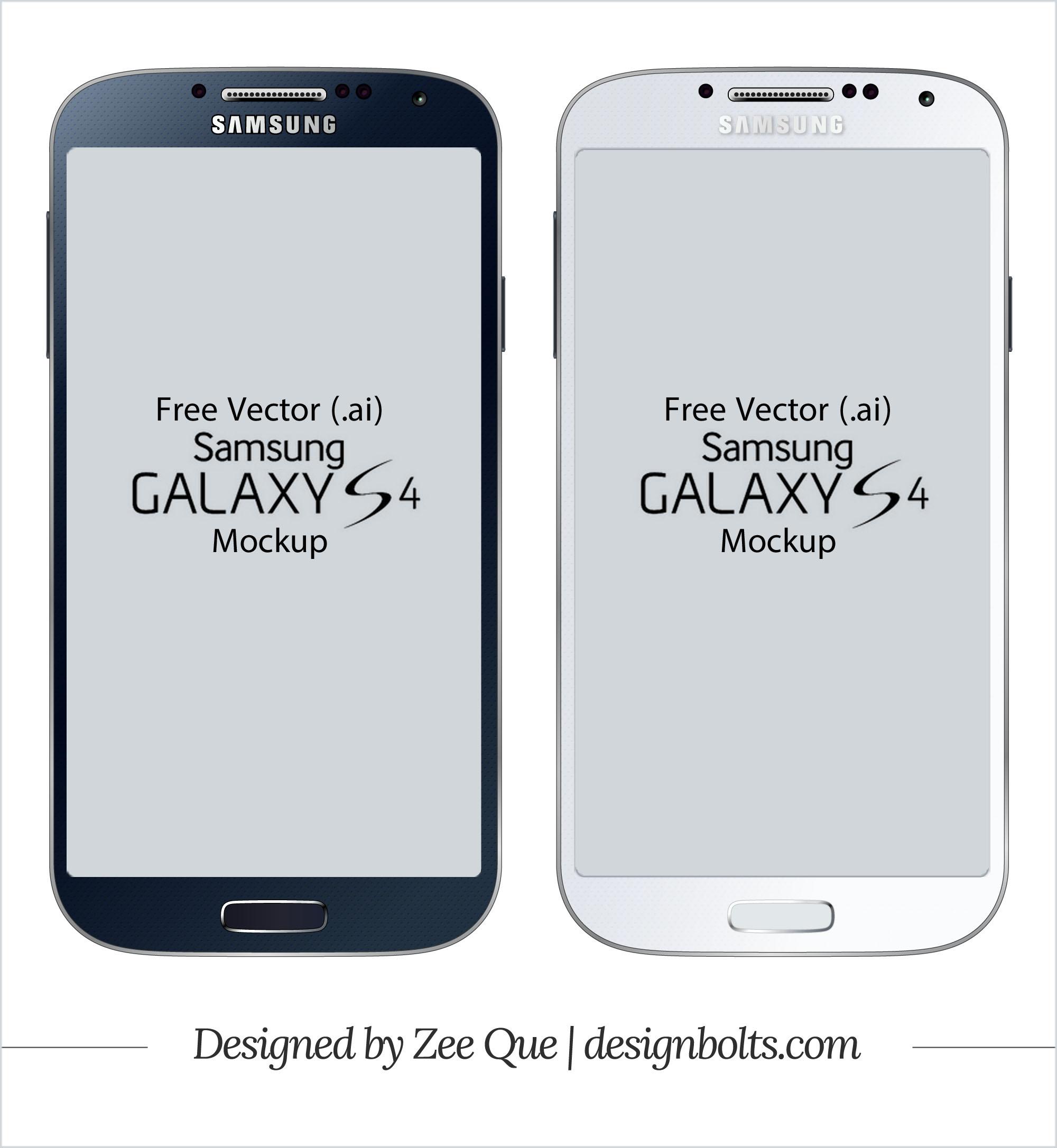 11 Samsung Galaxy S4 Mockup Vector Free Images