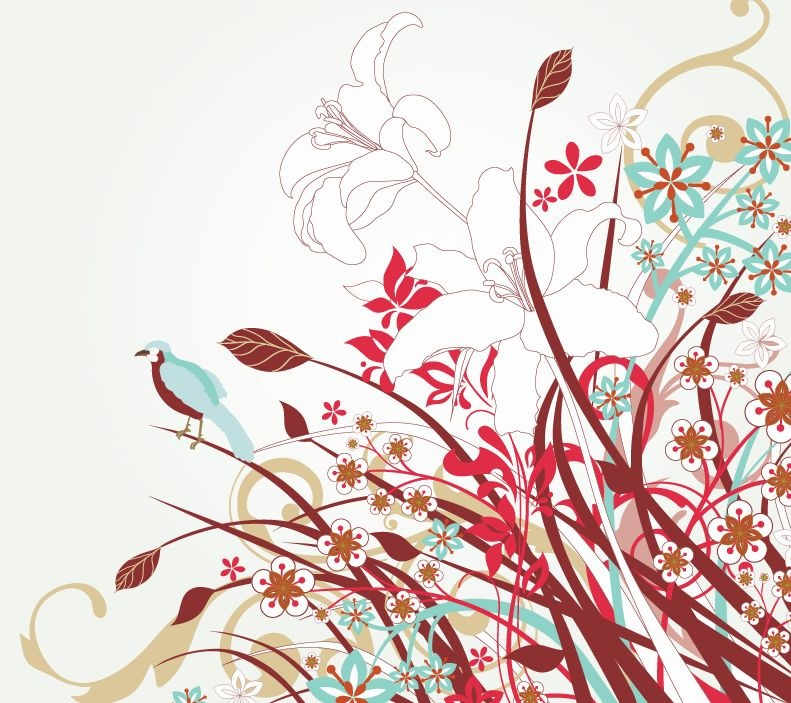 15 Free Vector Art Graphics Flowers Images