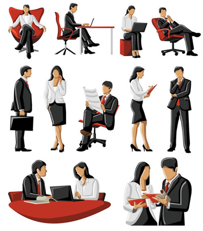 Free Vector Business People Clip Art