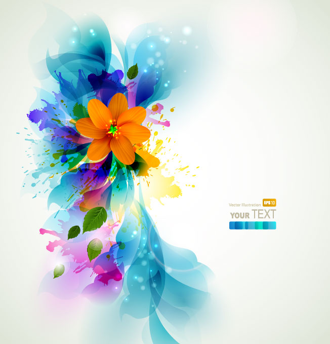 17 Colorful Flower Background Vector Free Images