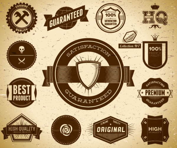 20 Antique Label Vector Images