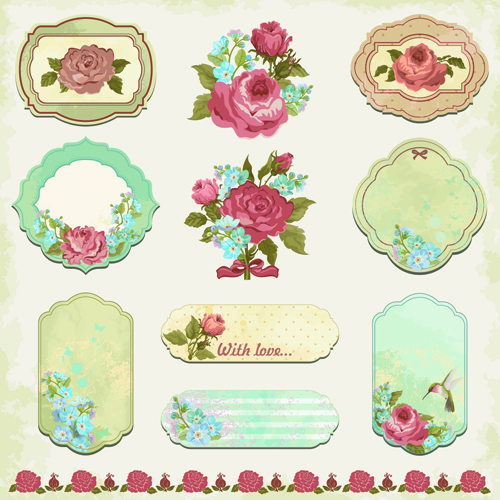flower tags template free - 20 antique label vector images free vector vintage