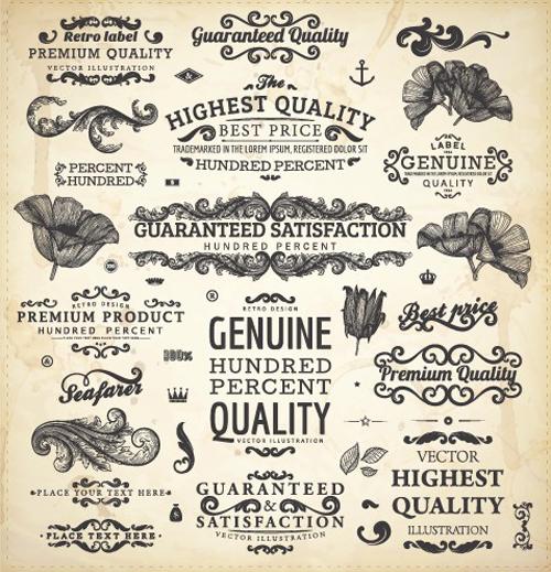 Free Vector Vintage Labels