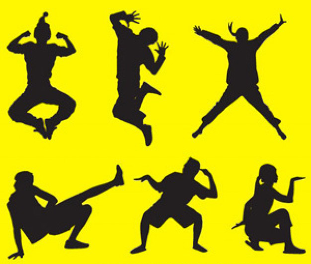 Funny People Silhouettes