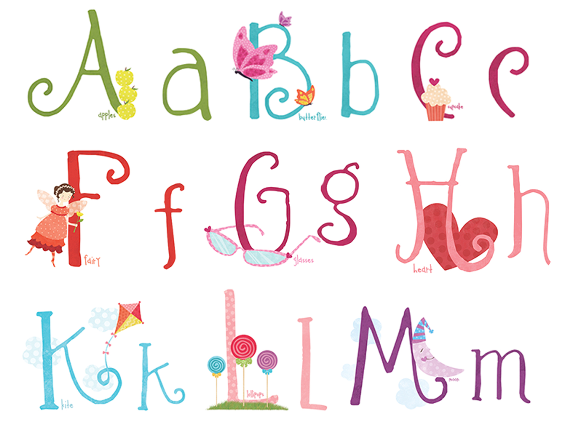 16 Cute Alphabet Letters Font Images - Cute Letter Fonts, Cute Font Letters Alphabet and Western ...