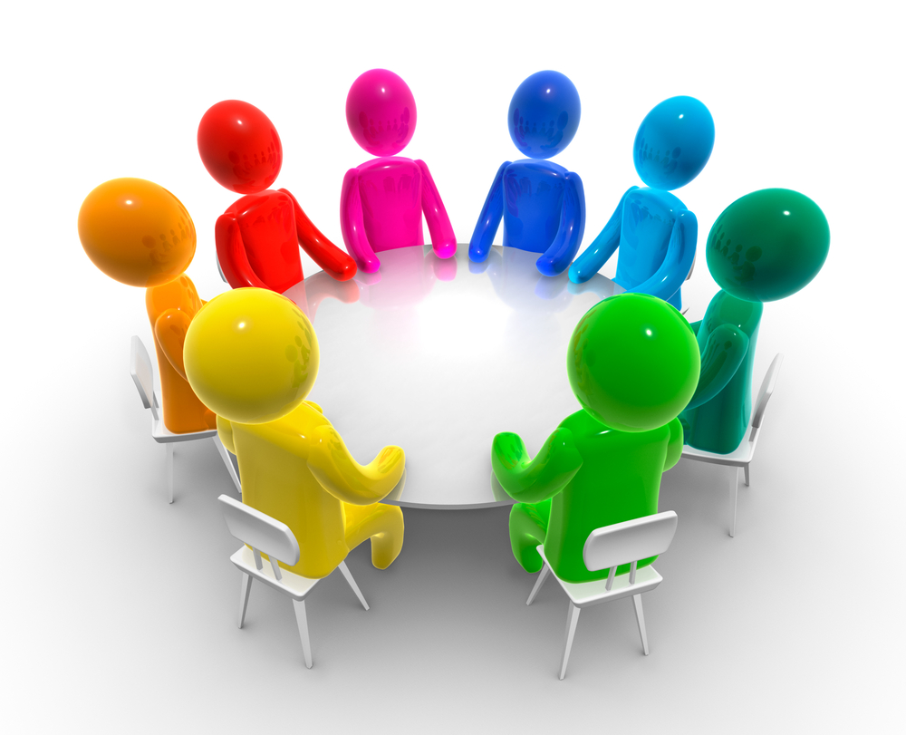Group Team Meeting Clip Art