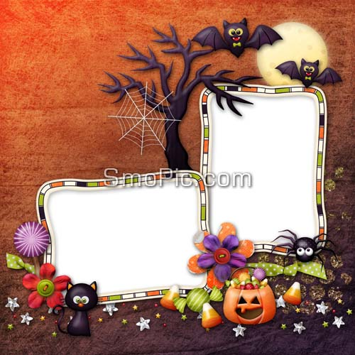 10 PSD Cartoon Halloween Images