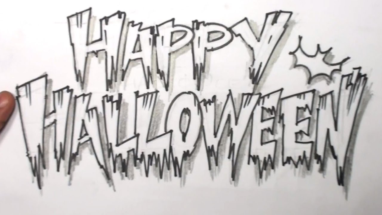 How to Draw Letters Happy Halloween