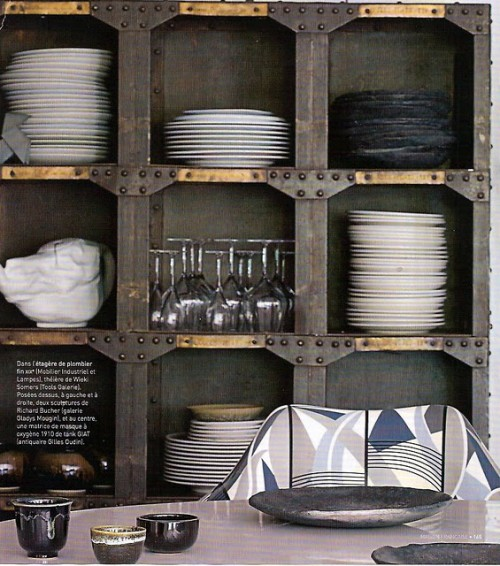Industrial-Style Kitchen Shelves
