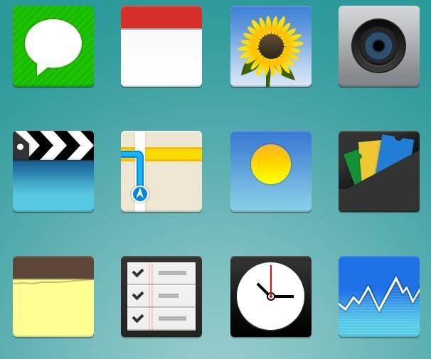 iPhone Flat App Icons