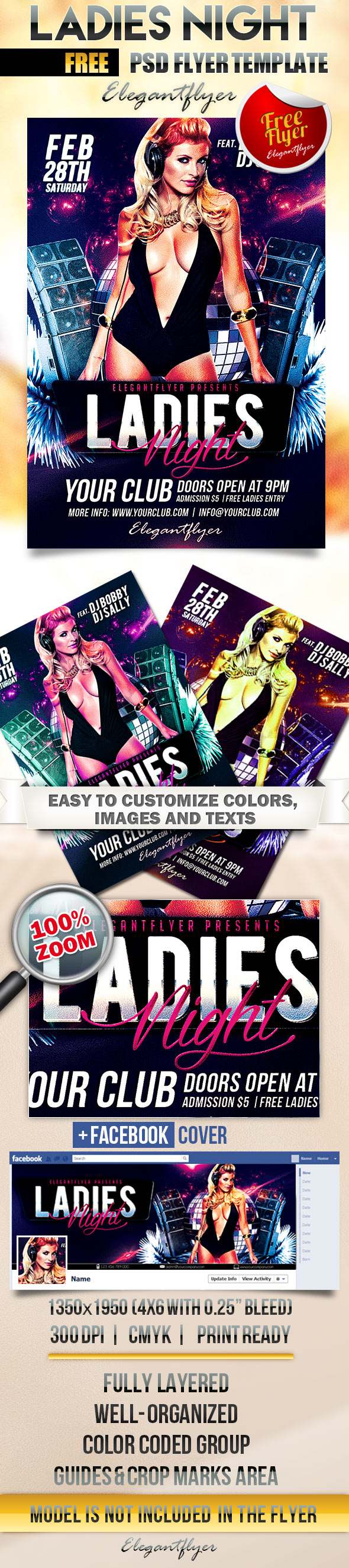 Ladies Night Flyer Template Free