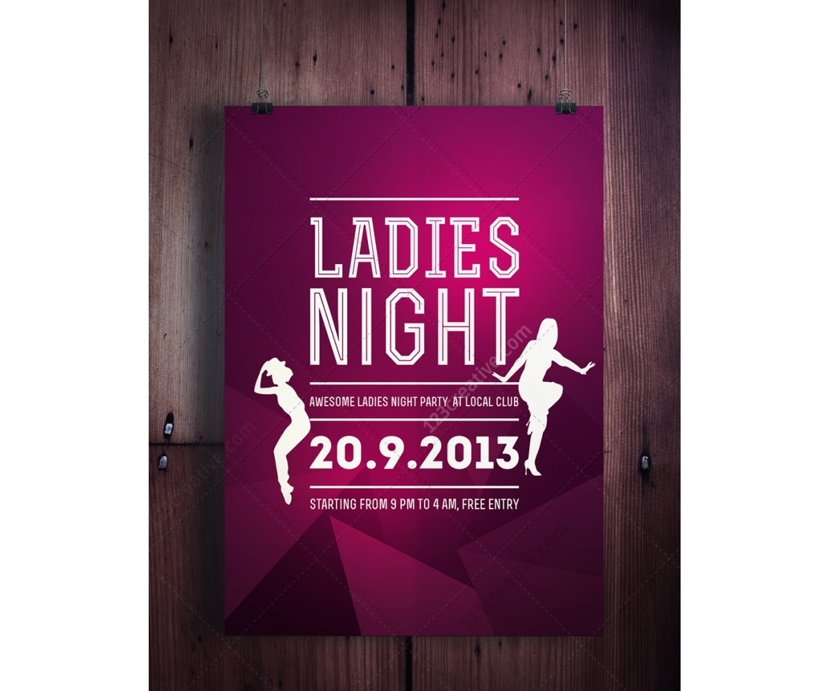 14 Ladies Night Flyer PSD Images