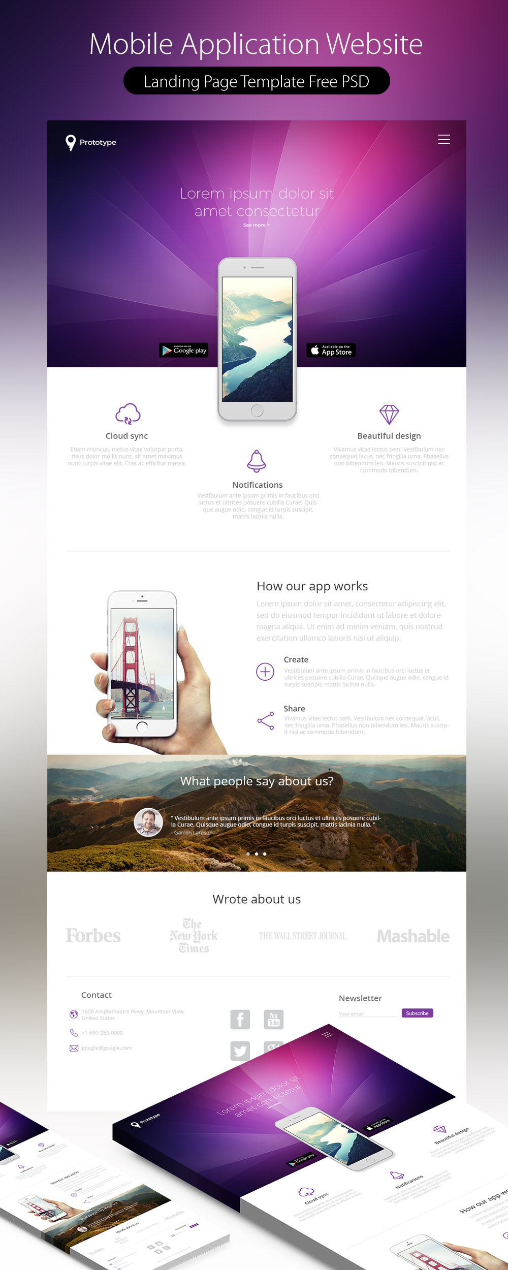 Mobile app design psd free download images
