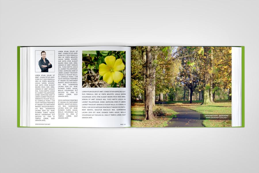 Landscape Book PSD Mockup