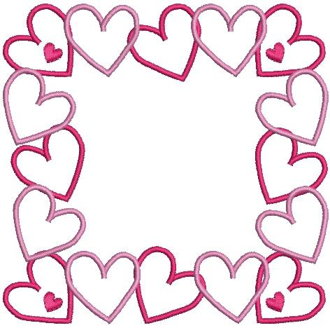 Machine Embroidery Heart Frame