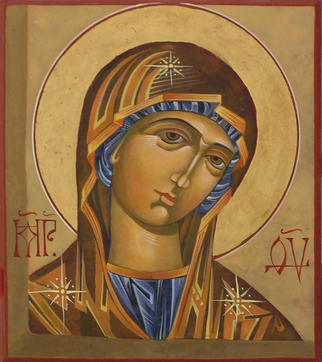Mary Religious Icon Painting