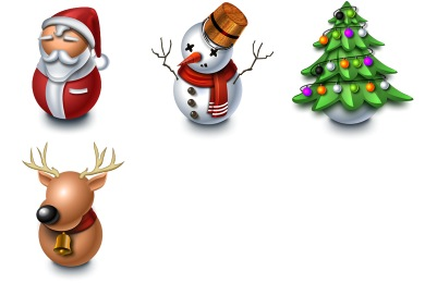 Merry Christmas Facebook Icons