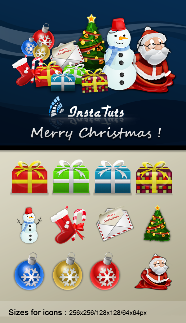5 Merry Christmas Icons Free Images