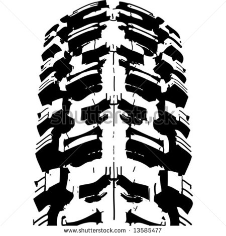 Clipart motorcycle tire tracks for Bike tire art