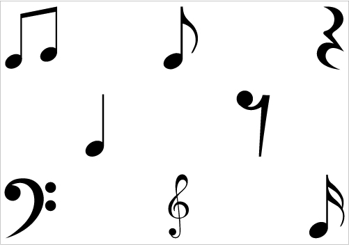 Music Notes Silhouette Clip Art