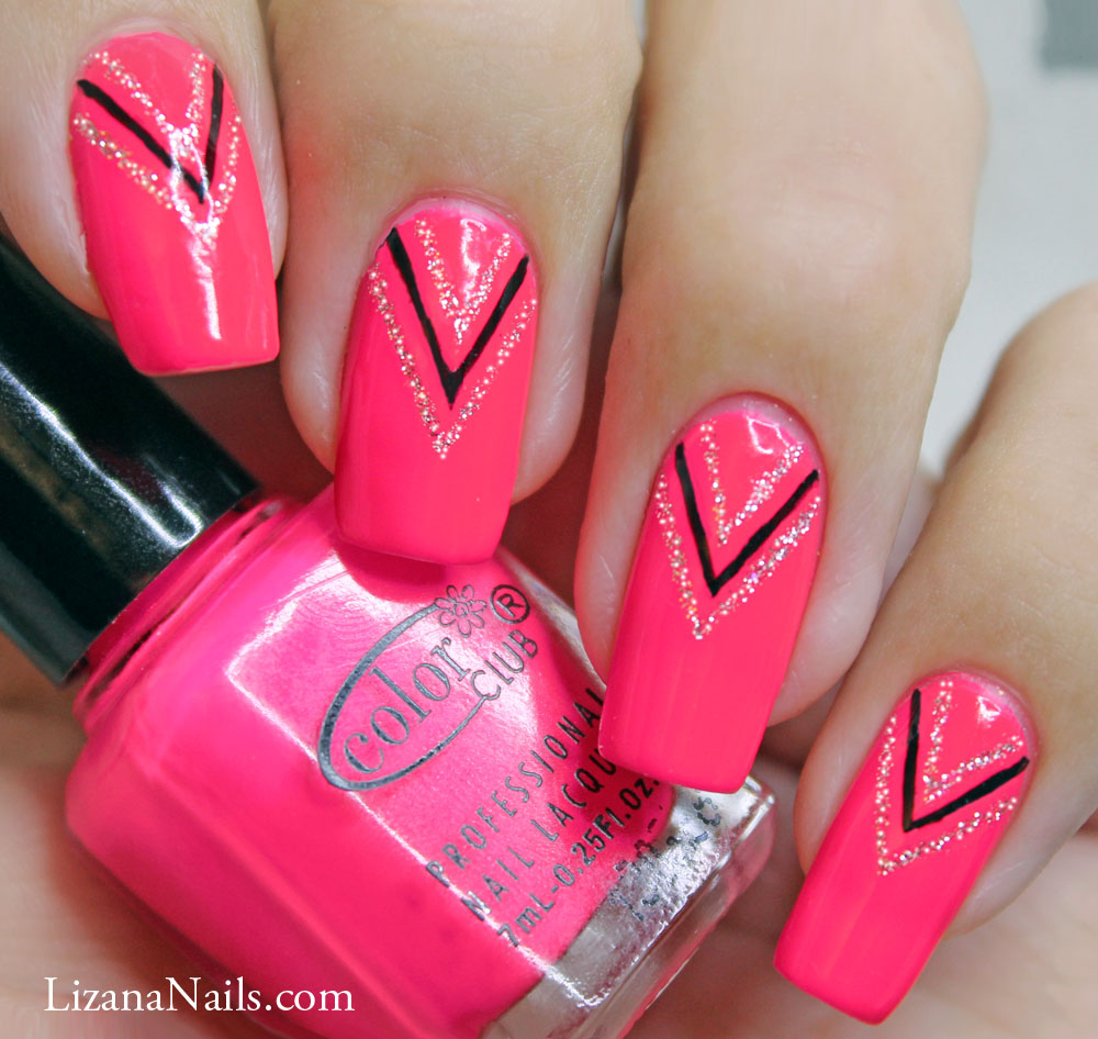 13 Neon Pink Dot Nail Designs Images
