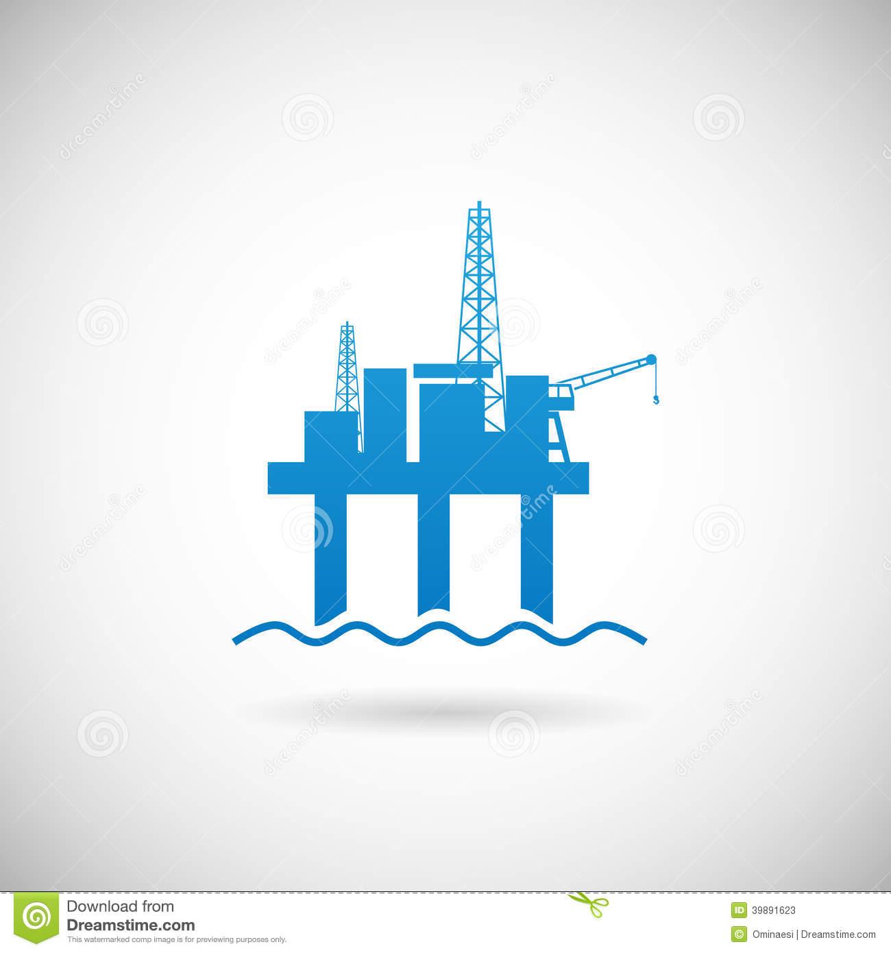 12 Oil Platform Icon Images