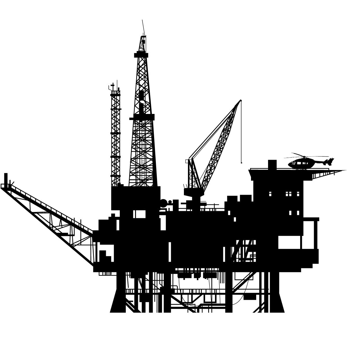 Construction Wall Stickers 12 Oil Platform Icon Images Offshore Oil Rigs Icons Oil