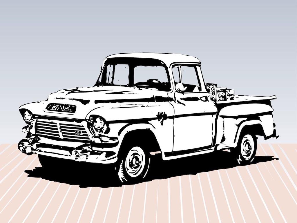 10 Vintage Truck Vector Images