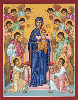 13 Mary Queen Of Angels Religious Icons Images