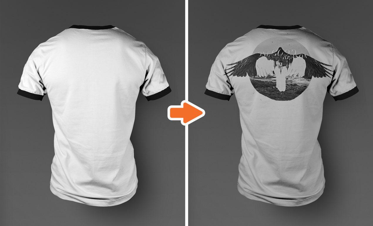 Charmant Leere T Shirt Vorlage Psd Ideen - Beispiel Business ...