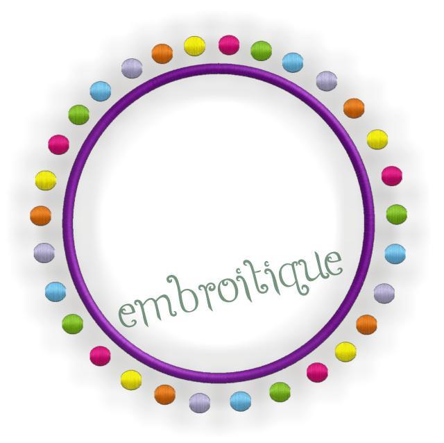 Polka Dot Frame Embroidery Machine