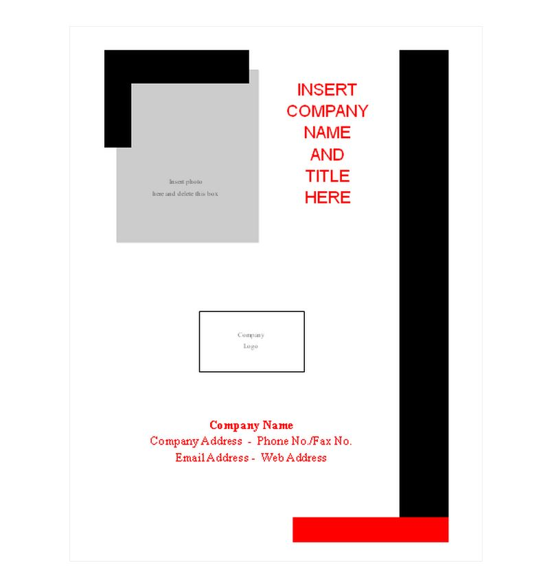 Report Cover Page Templates Free